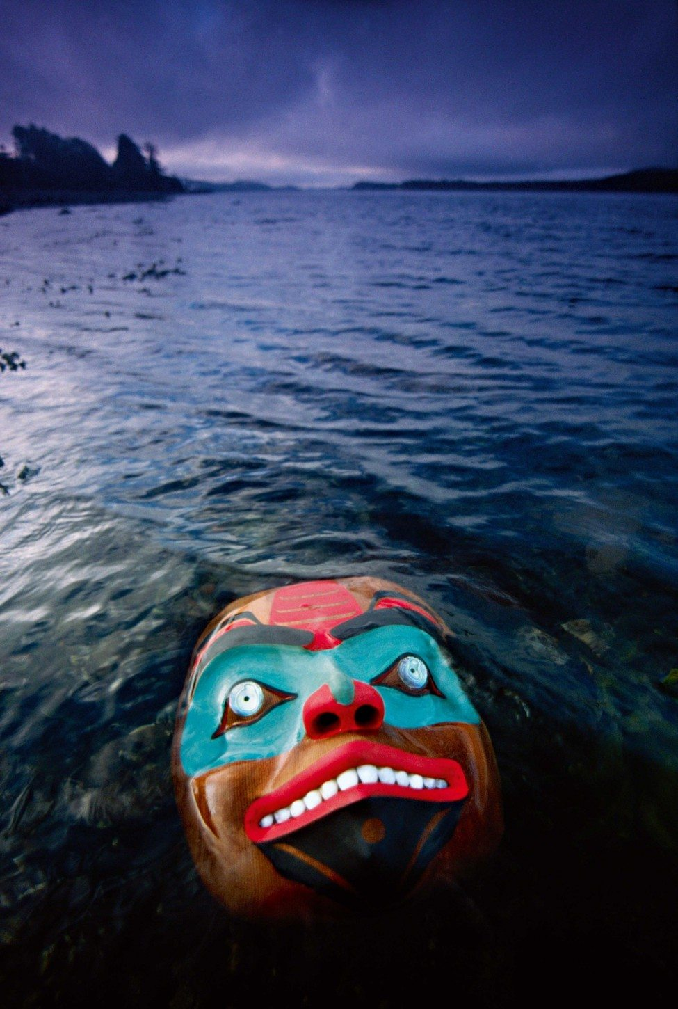 Shark mask by Haida artist Reg Davidson, Queen Charlotte Island, British Columbia, Canada.<br />